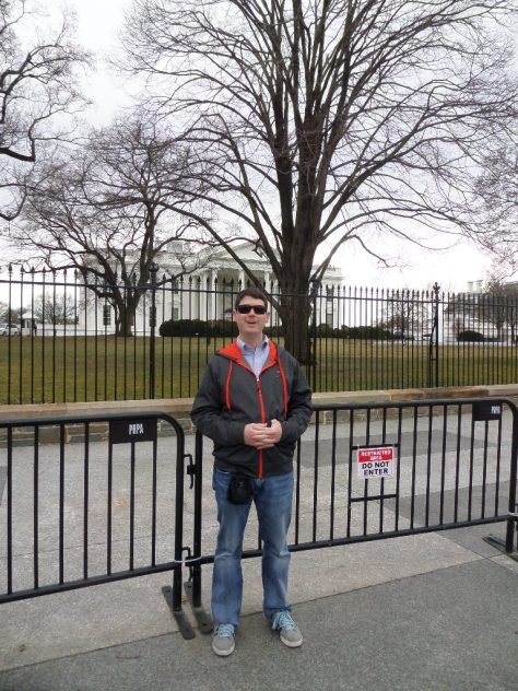 It took us awhile to find the right spot for pictures at the White House.